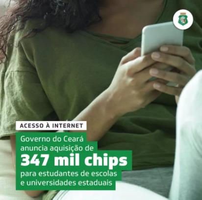 Governo anuncia 347 mil chips para estudantes de escolas e universidades públicas