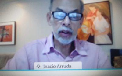 Secretário INACIO ARRUDA, encerrando o lançamento da Plataforma REVIVENEGOCIO