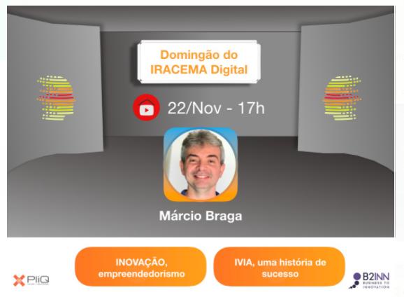 DOMINGÃO do IRACEMA Digital com o empresário (e guitarrista) MARCIO BRAGA