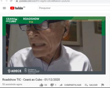 Presidente Ricardo Liebmann apresenta o IRACEMA Digital no ROADSHOW de TIC no Ceará